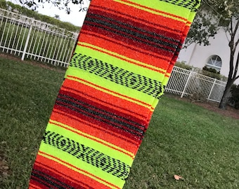 Colorful Handmade Mexican Blanket