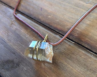 Citrine Wire Wrapped