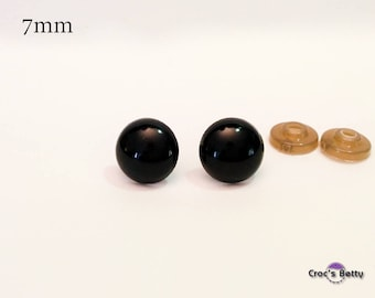 Safety Black Eyes - 7mm (2 pairs)