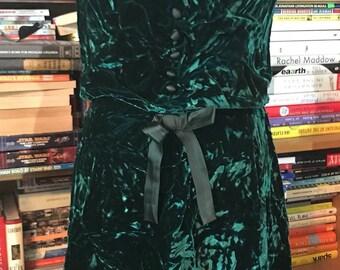 60's Handmade Crushed Velvet Party Dress