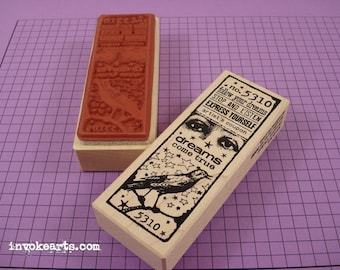 Dreams Ticket Stamp / Invoke Arts Collage Rubber Stamps