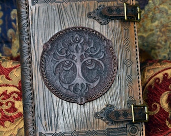 Celtic 3 ring loose Leaf Binder 1 1/2 to 2 Inch Dragon Tree of Life