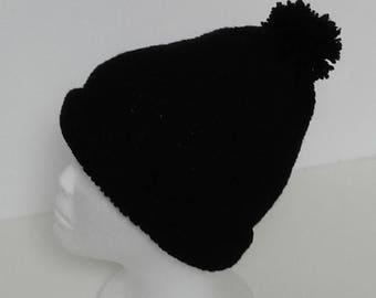 Black Hat with Pompom