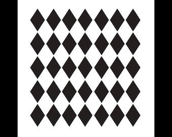 Medium Diamonds Pattern Stencil - Select Size - By StudioR12