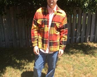 Vintage Plaid Jacket Outerwear seventies sixties