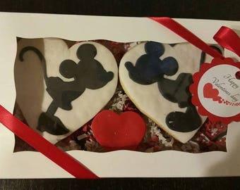 Valentines cookies ,Sugar cookies ,Heart sweet cookies,