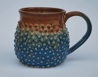 blue -brown mug