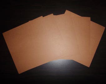 set of 5 paper origami Brown 15 x 15 cm