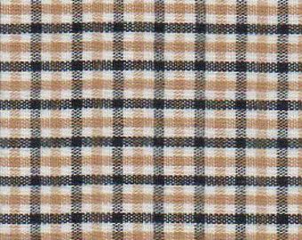 Black & Gold Check Fabric, Fabric Finders,100 percent cotton, Black and Gold Gingham 1/4″ tri check