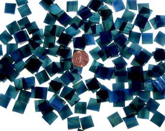 Wispy Steel Blue Mosaic Tile