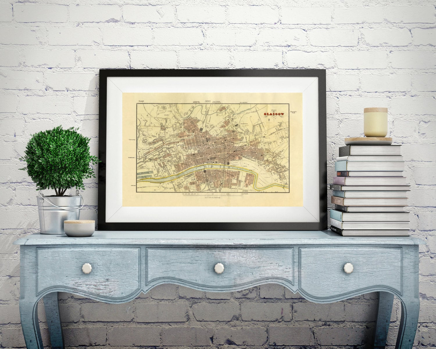 Stunning world map wall decor gallery the wall art decorations map of glasgow scotland old map wall map scotland antique map gumiabroncs Choice Image