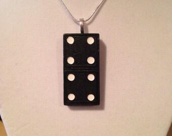 Vintage Wood Domino Pendant