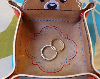 Coin Jewelry Tray Corgi Red Blue