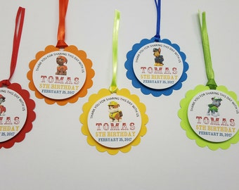 Paw Patrol Goody Bag Tags