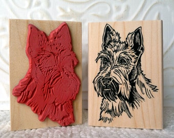 Scotty dog rubber stamp from oldislandstamps