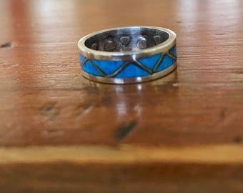 Silver and Turquoise Band