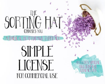 Sorting Hat Font (License Only - Font Sold Separate) - Simple Extended License for COMMERCIAL USE