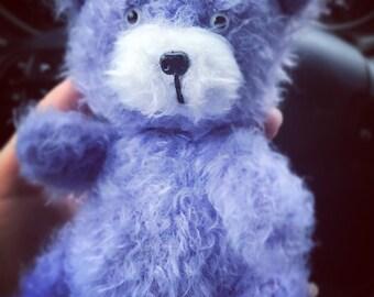 Lavender bear handmade toy