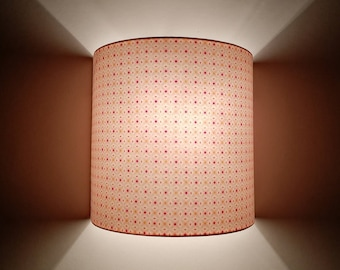Applique wall semicircle printed pink Arabesque