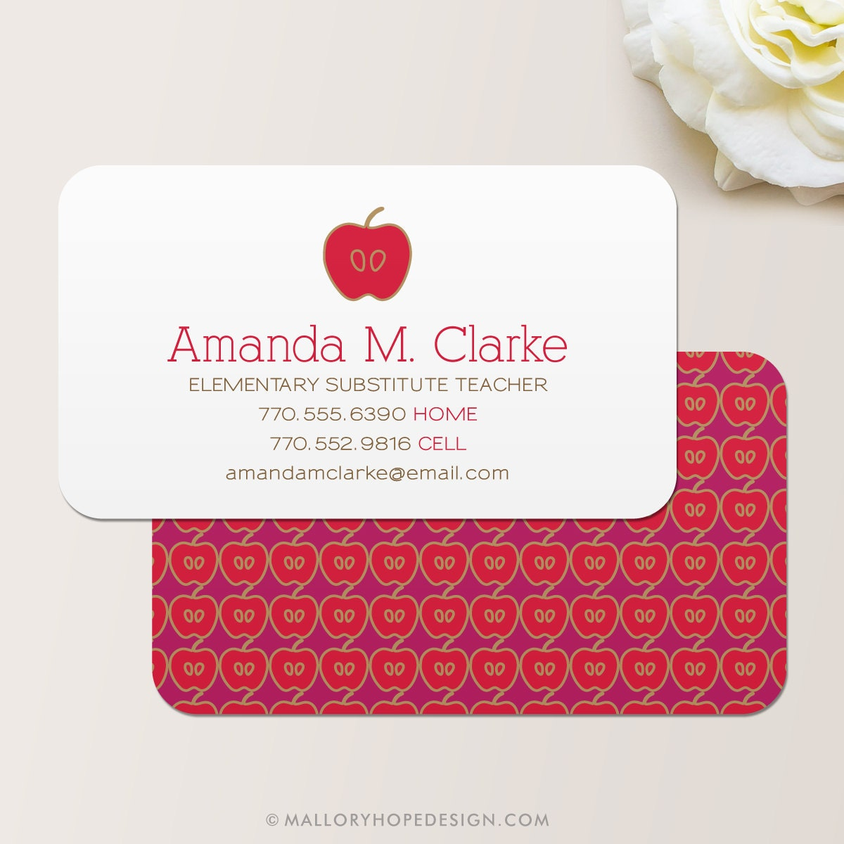 Teacher business card calling card mommy card contact zoom magicingreecefo Gallery
