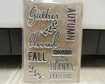 Clear Acrylic Thanksgiving Stamp Set-Thanksgiving Stamps-Fall Stamps