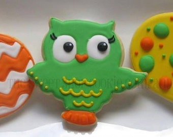 Owl-dorable Owls and Pumpkin Cookies 2 dozen