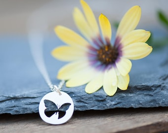 ON SALE!** Little Butterfly Necklace Handmade from Sterling Silver
