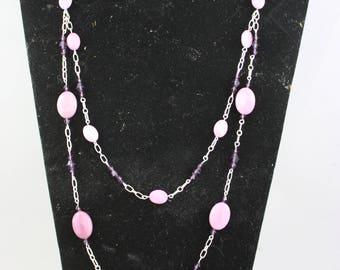 necklaces, lavender necklaces, stone necklaces, crystal necklaces, two strand necklaces, chain necklaces, purple necklaces,