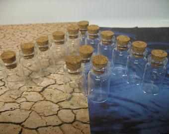 50 7ml Bitty Bottles. Decorative Glass Jars. Small Glass Bottles WIth Lids. Small Glass Vials. Tiny Glass Jars. Mini Glass Bottle Pendant.