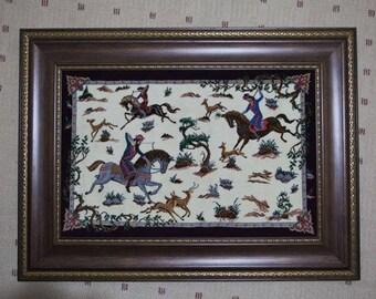Persian Silk Rug as Scenery on the Wall!