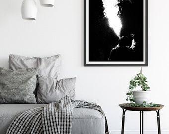 Photographie Fine Art - Noir et Blanc - Cracheur de Feu Tunisien - Tunisie