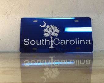 South Carolina Palmetto Tree License Plate