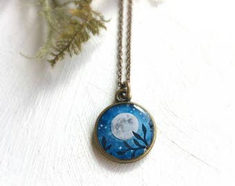Full Moon Necklace- I love you to the Moon and back