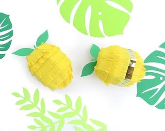 Lemon Mini Piñata SET OF SIX for Lemonade Birthday Decorations, Cinco de Mayo Fiesta