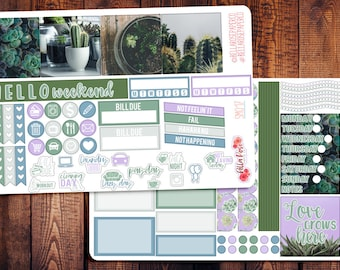 Succulent Photography Mini Happy Planner Kit, Succulent Planner Stickers, Happy Planner Stickers, Planner Stickers SM017