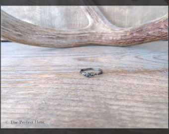 Ring, Hematite, Wire, Wrapping, Black, Size 5