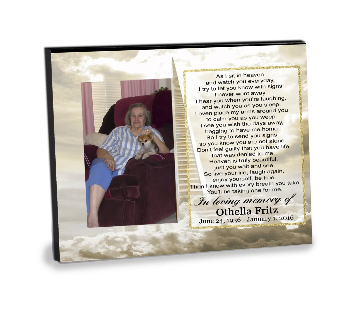 As i sit in heaven memorialremembrance tribute 8x10 photo zoom jeuxipadfo Choice Image