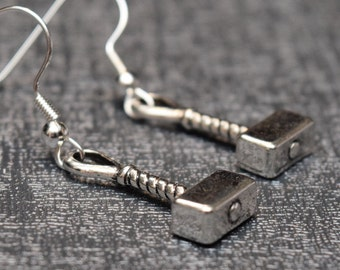 Thor's hammer earrings – cosplay or convention accessory – prop replica jewelry / jewellery