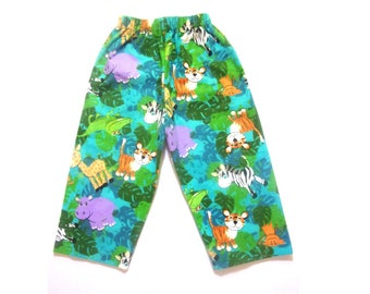 Flannel jungle pajama pants