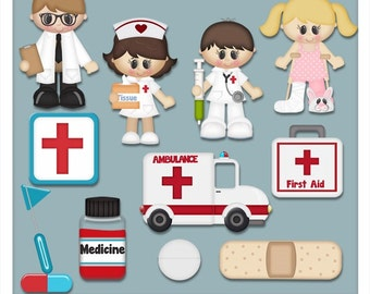DIGITAL SCRAPBOOKING CLIPART - When I Grow Up Medical