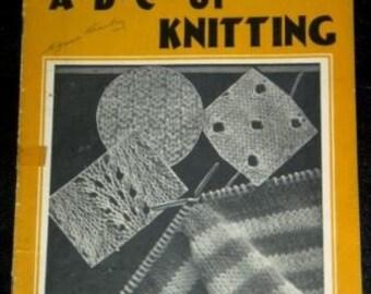 vintage craft booklet ... A.B.C. of Knitting  vintage booklet ...