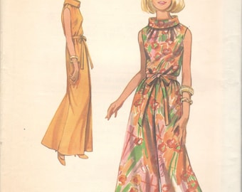 1960s Butterick 5073 Misses Sleeveless Palazzo JUMPSUIT Pattern Culottes Roll Collar Womens Vintage Sewing Pattern Size 10 Bust 32 Or 14