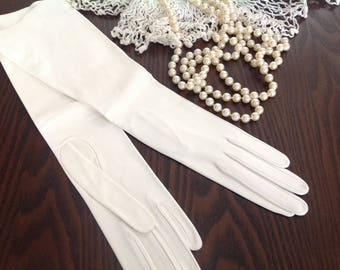 Vintage Italian Leather Opera Gloves