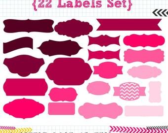 22 Labels SVG DXF cut files