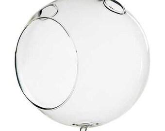 "5"" Double Hook Glass Terrarium"