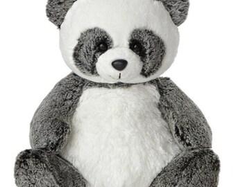 Personalized Keepsake Animal/ Plush Panda/ Birth Announcement/ Personalized Birthday/ Personalized Baby Shower/ Personalized Gift