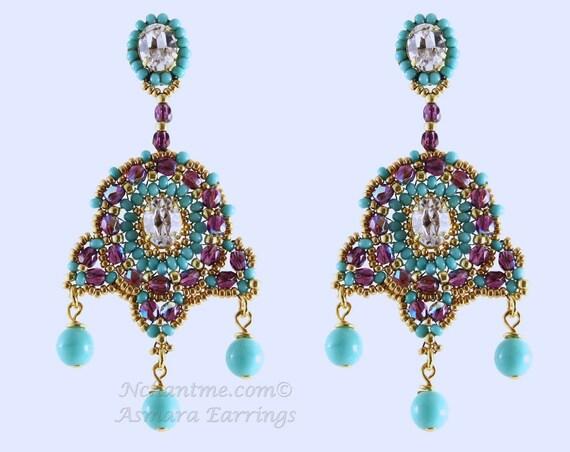 Asmara Earrings Pattern Instant Download