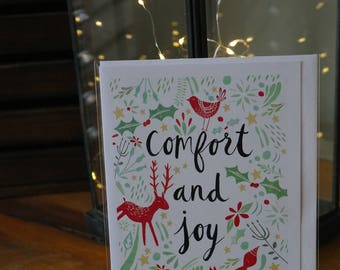 Comfort and joy christmas card