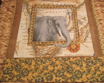 The reach map etsy 14 x 14 pillow cover exotic world market african savannah grey elephant reaches gumiabroncs Gallery