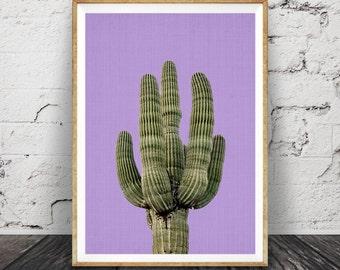Cactus pourpre impression, mexicain Wall Art, en Arizona, Decor de sud ouest, affiche imprimable, téléchargement numérique, impression plante cactus aztèque, botanique